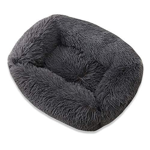 GRFD Cuccia Cane,Cuccia Quadrata in Peluche,Cuccia Grande Lavabile,Tappetino Mobile per Animali Domestici,S,M,L