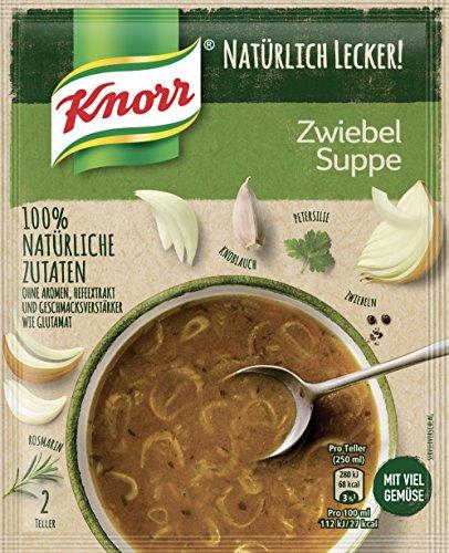 Knorr Natürlich Lecker Zwiebel Suppe, 2 Teller, 17er Pack