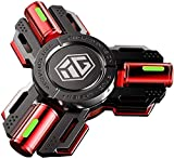 Khosd Fidget Spinners LED Light Hand Spinner Toy Stress Anxiety ADHD Relief Fidgets Toy Metal Finger Hand Spinner Toys for Interactive Toys Kids Adult (Rouge)