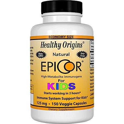 Healthy Origins EpiCor for Kids 125 mg, 150 Veggie Caps