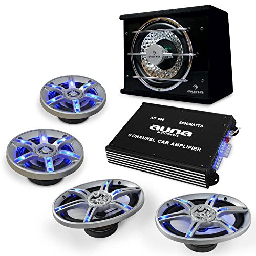 auna Car-HiFi Lautsprecher-Verstärker-Set BeatPilot FX-413