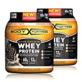 Body Fortress Super Advanced Whey Protein Powder, Cookies N' Cream, 2 Pound, 2 Pack, (4lbs Total)...