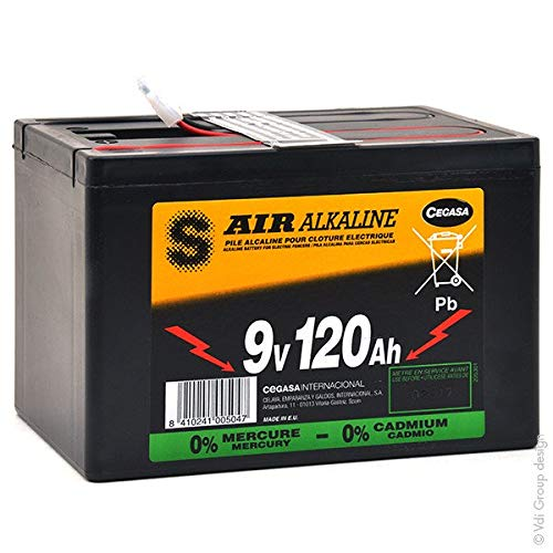 Cegasa - Batterie Luftsauerstoff Alkaline 6AS3/120M 9V 120Ah