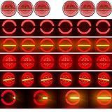 KIT 6 PILOTOS LED NEON 3 FUNCIONES CON INTERMITENTES PROGRESIVOS HOMOLOGADOS CAMION REMOLQUE 12V 24V