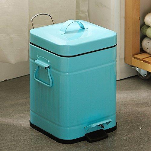 WEBO HOME- Bleu carré poubelle pied cuisine salon maison -Poubelle (taille : 6L)
