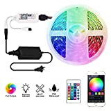 LED Strip Lights WiFi Wireless Smart Phone APP Controlled Sync to Music 5M 16.4ft Waterproof RGB Light Strips Kit 5050 LED Lights Compatible with Alexa,Google Home,IFTTT