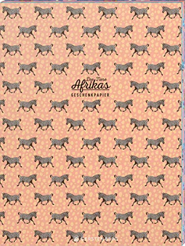 Die Tiere Afrikas Geschenkpapier-Heft Motiv Zebra: 2 x 5 Bögen