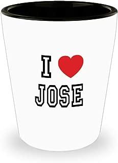 White Ceramic Shot Glass I Love Jose Mug Lover Gift Coffee Funny Idea Tea Cup Cute Ceramic Present Gag,al2837