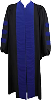 Choirgown Unisex Choir Robes Adult Chaplain Clergy Robes Chaplain of Royal Blue Robes