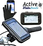 Navitech Cycle/Bike/Bicycle Waterproof Holder Mount/Case & Pink Touchscreen Gloves Compatible with The Nokia Lumia 720 / Nokia Lumia 920 / Nokia Lumia 820 / Nokia Lumia 1020