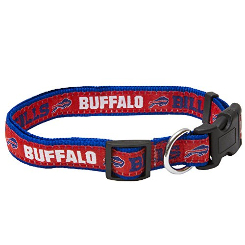Pets First NFL Buffalo Bills STRONG & ADJUSTABLE DOG Collar, Large