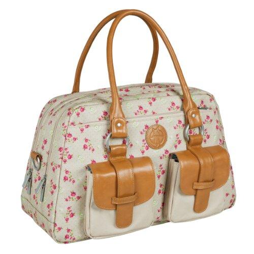 LÄSSIG baby luiertas babytas kliniktas stijlvolle tas mama incl. wikkelaccessoires/vintage Mero Bag Breite 45,5 cm, Höhe 25 cm, Tiefe 20 cm Rosebud Fairytales