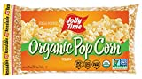 JOLLY TIME Organic Popcorn Kernels | Non-GMO & Gluten Free Natural Yellow Unpopped Corn for Stovetop...