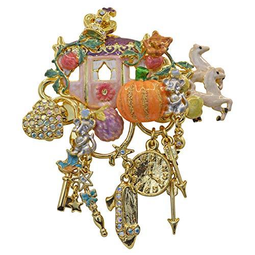 Kirks Folly CINDERELLA MAGIC COACH PIN goldtone Cinderella Coach