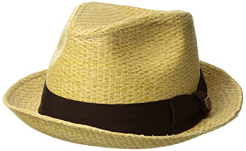 BRJXN|#Brixton BRIXTON Castor Fedora Headwear, tan Stripe, S