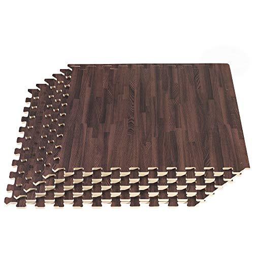 New FOREST FLOOR 5/8 Inch Thick Printed Foam Tiles, Premium Wood Grain Interlocking Foam Floor Mats, Anti-Fatigue Flooring, Cherry, 48 Sq Ft