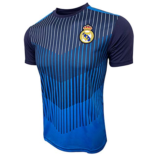 Real Madrid Performance Jersey for Kids, Licensed Real Madrid Shirt (Small) Blue