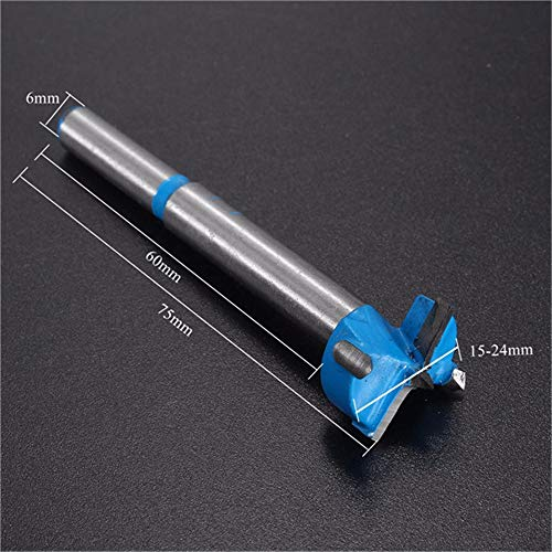 Takefuns 15-24mm Wood Hinge Boring Hole Saw Drill Bit Carbide Cutter Auger Drill Bit-17mm