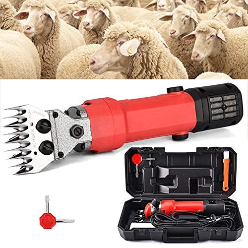 YIHGJJYP Cizalla eléctrica para ovejas, 750 W, Profesional, Resistente, para Aseo, cortadora de Mascotas con 6 velocidades para Afeitar Lana de Piel de Oveja, Cabra, Alpaca y Otros Animales de