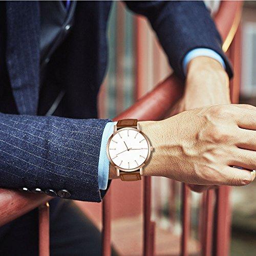 Herren Chronograph Quarz Uhr mit Silikon Armband 2525Braun