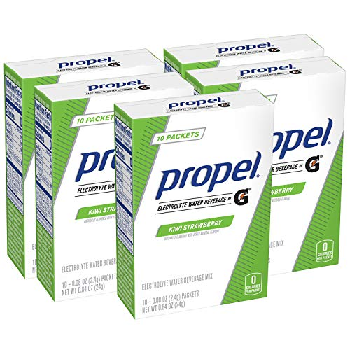 Propel Powder Packets Kiwi Strawberry With Electrolytes, 10 Count (Pack of 5)