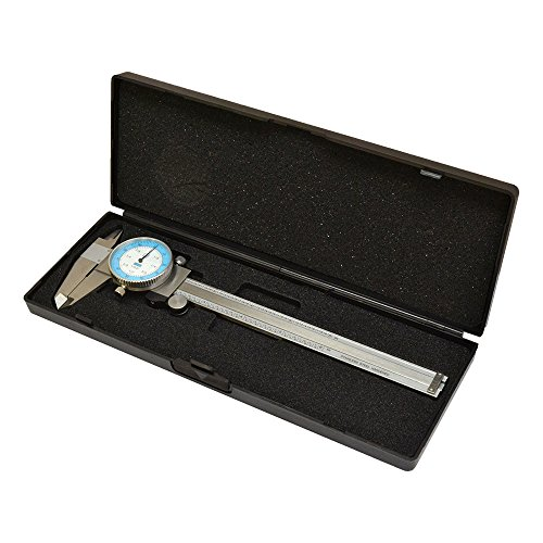 DBM IMPORTS 6'' Dial Caliper Gage Gauge Precision Measuring Tool Ruler Scale Read 0.01
