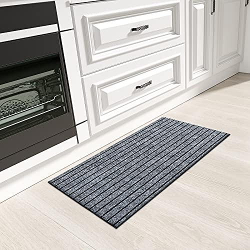 Color&Geometry Alfombra de Cocina Antideslizante, Lavable con Respaldo de Goma, Alfombra de Corredor de Cocina Duradera y Larga para Pasillo, Cocina, Entrada (44 cm x 100 cm, Gris)