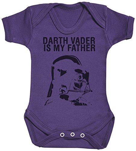 Baby Buddha Darth Vader is My Father Body bébé - Gilet bébé - Body bébé Ensemble-Cadeau - Naissance Violet