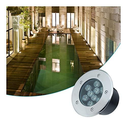AMDHZ Bodenleuchte Buried Lichter LED wasserdichte Uniform Licht AC220V Efficiency Embedded Landschaft Patio Grundlampe, 7 Farben, 9 Strom (Color : F, Size : 36W)