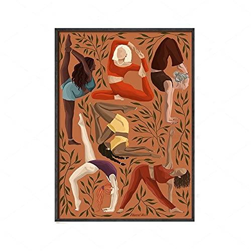 Bdgjln Puzzle 1000 Piezas-Posturas de Yoga-Puzzle Cartón de Alta Dificultad,Juego Desafío-50x75cm