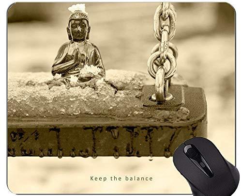 Life Quotes Gaming Mouse Pad Benutzerdefiniert, Balance eines Tages, war nicht wieder in der Lage, Mauspad mit genähtem Rand zu kommen