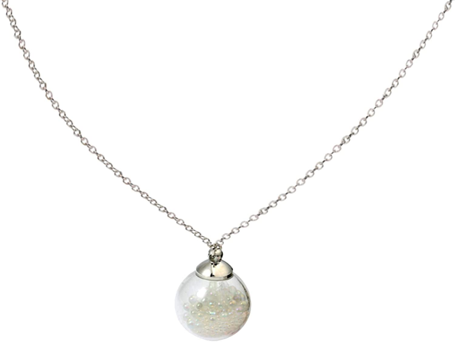 Stylish Round Glass Bubbles sale Pendant Jewelry Party Chain Direct stock discount Necklace
