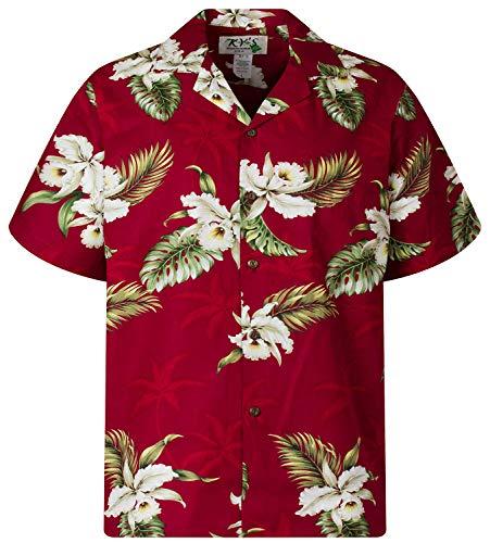 KY's - Chemise Hawaienne authentique originale taille S, rouge