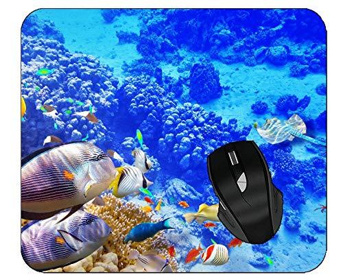 Gaming Mouse Pad Underwater Ocean Fish Computer Desk Mat