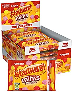 12-Pack Starburst Minis 100 Calories Original Fruit Chew Candy