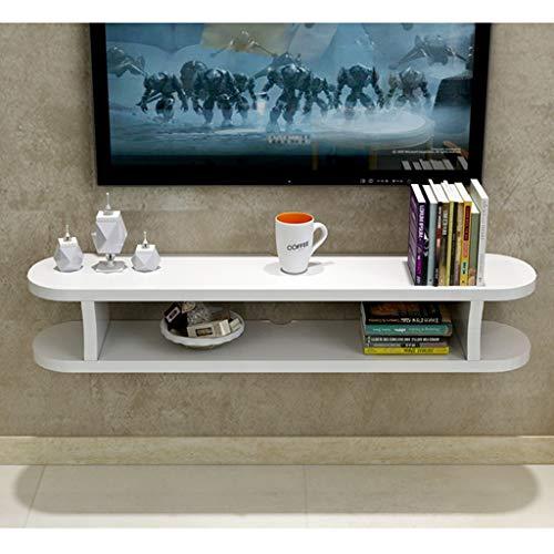 GDF-FLOATING SHELVES Woonkamer Entertainment Console Muur gemonteerde TV kabinet Opbergkast Boekenkast Multi-kleur Optionele Wandkast Woonkamer Wandplank, 100cm, Kleur: wit