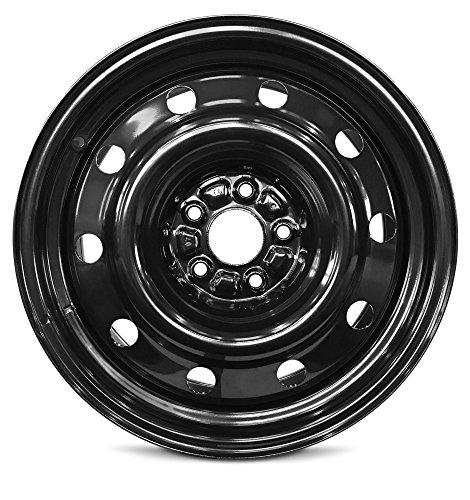 Road Ready Car Wheel For 2011-2019 Ford Explorer 17 Inch 5 Lug Black Steel Rim Fits R17 Tire - Exact OEM Replacement - Full-Size Spare