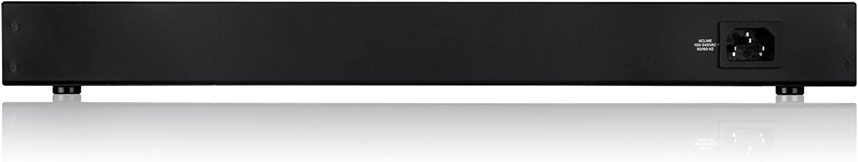 Linksys LGS124P-EU - Unmanaged Switch Gigabit PoE + en bastidor para empresas (24 puertos, detección automática, 1000 Mbps, optimización del rendimiento, Plug and Play), negro