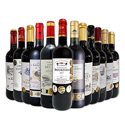 赤ワイン セット フルボディ ALL金賞受賞 ボルドー赤ワインの飲み比べセット 12本 赤ワインセット 本場フラ...