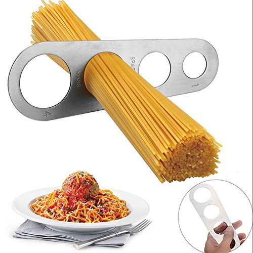 Edelstahl Spaghettimaß Spaghetti Nudeln Menge 4 Löcher Messen