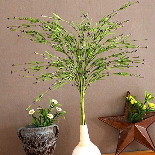 \t 10 takken van groen blad kleine bessen rotan realistische gevoel bruiloft boeketten gebruikt in huis hotel tuin kantoor decoratie (zonder vaas)