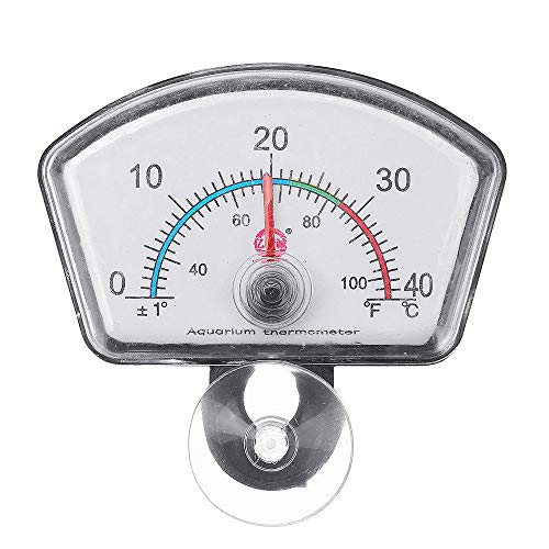 Tutoy 0-40 (° C) Polygon Pointe \' R Thermometer Hochpräzise Aquarium-Thermometer Echtzeit-Display Easy-to-Lese-Thermometer