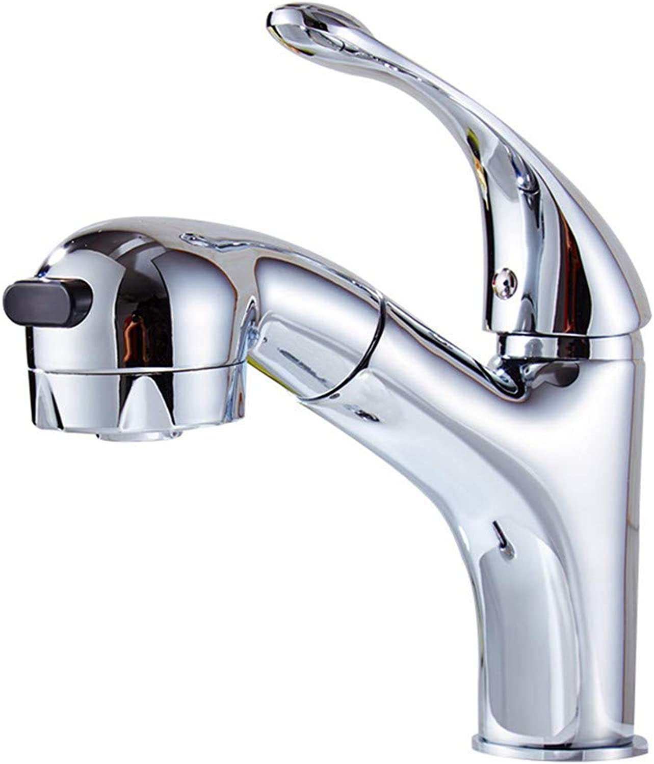 SADF Pullable Basin Faucet Hot And Cold Single Hole Wash Basin Faucet Wash Basin Basin Water