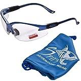 Cougar Bifocal Safety Glasses (Magnifier: 1.75, Frame Color: Pastel Powder Blue)