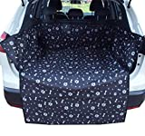 HYUGO Car Boot Liners for Dogs - Pet Back Seat Cover Trunk Protector Boot Cover - Bumper Flap Protection/Non Slip/Waterproof - Universal for Cars/Trucks/SUVs - Black