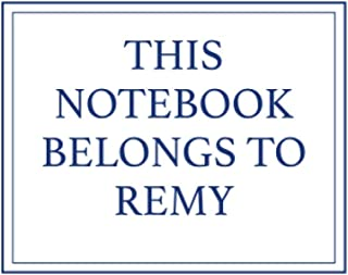 This Notebook Belongs to Remy