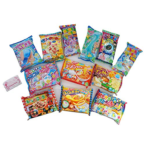 Assorted 5 bags Kracie Poppin' Cookin' DIY Gummy Candy Making Kit Takoyaki, Nerune, Ramen, Tsubupyon