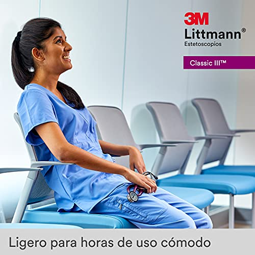 3M Littmann Classic III Monitoring Stethoscope, Black Edition Chestpiece, Black Tube, 27 inch, 5803