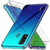 Ferilinso Cover per Huawei P Smart 2020 + 2 Pezzi Pellicola Protettiva Vetro Temperato,...