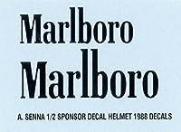 デカール 1/2 AYRTON SENNA SPONSOR FOR HELMET 1988 DECALS TB DECAL TBD12